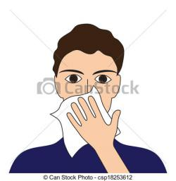 Sick clipart cough cold