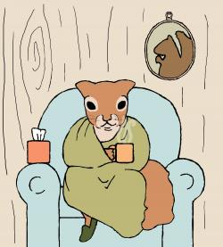 Sick clipart squirrel