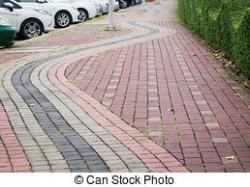 Sidewalk clipart footpath