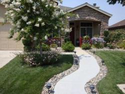 Sidewalk clipart front yard