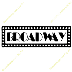 Musical clipart broadway musical