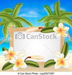 Frangipani clipart summer flower