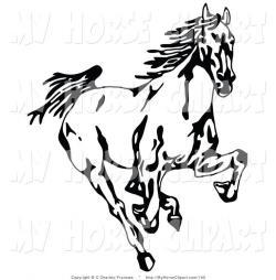 Drawn liquor mustang horse