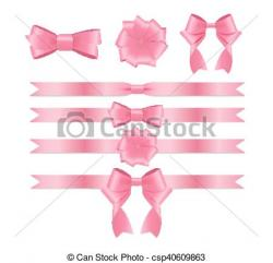 Silk clipart pink ribbon