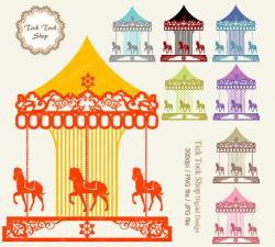 Carousel clipart victorian