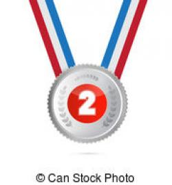 Silver clipart 2nd place medal