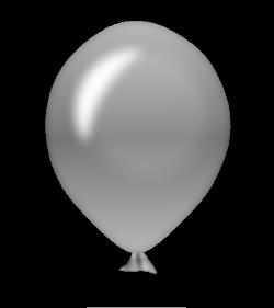 Silver clipart ballon