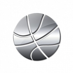 Silver clipart basketball