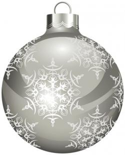 Silver clipart christmas ornament