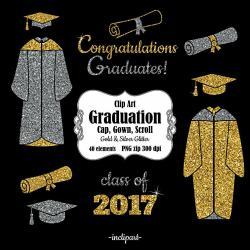 Graduation clipart divider