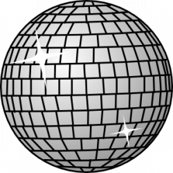 Silver clipart disco ball