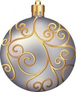 Silver clipart gold ornament