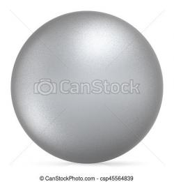Silver clipart round object