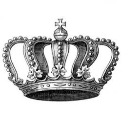Crown Royal clipart black and white