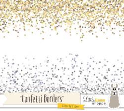 Confetti clipart gold confetti