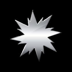 Silver clipart starburst