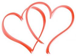 Wedding clipart double heart