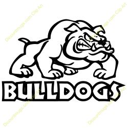Wrestler clipart bulldog