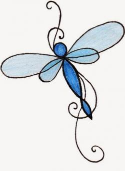 Dragonfly clipart simple