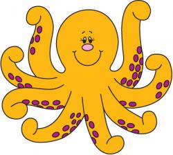 Colorful clipart octopus