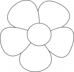 Petal clipart simple flower