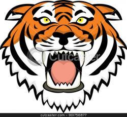 Bengal clipart tiger head