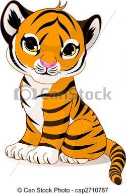 Drawn tiiger cute
