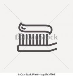 Toothbrush clipart simple