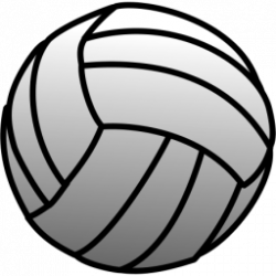 Light Blue clipart volleyball