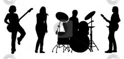 Singer clipart band