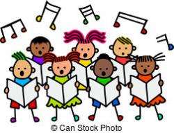Singer clipart childrens choir