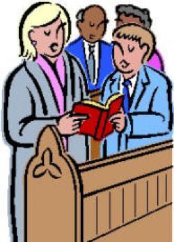 Singer clipart church service