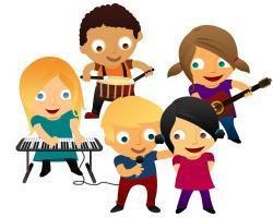 Singer clipart kid band