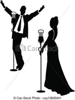 Singer clipart male and female