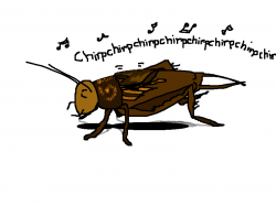 Cricket clipart singing