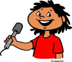Singer clipart student speech