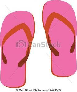 Sandal clipart vector