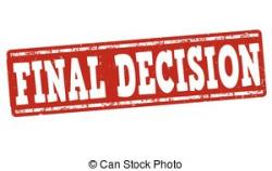 Situation clipart final decision