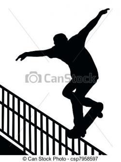 Drawn skateboard skate