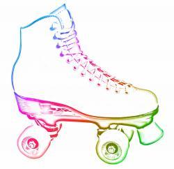 Figurine clipart roller skating