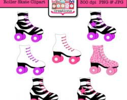 Neon clipart roller skate