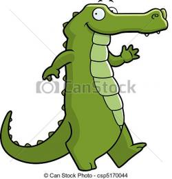 Sketch clipart alligator