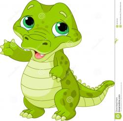 Cute clipart baby alligator