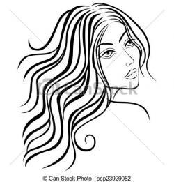 Sketch clipart beauty woman