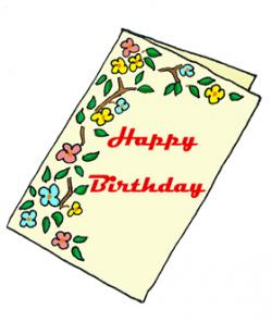 Sketch clipart birthday card