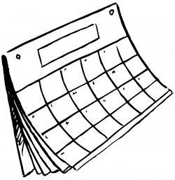 Sketch clipart calendar