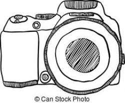 Sketch clipart camera drawing
