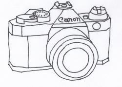 Nikon clipart camera sketch