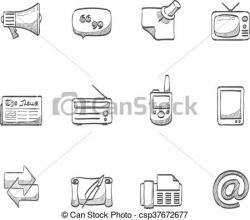 Sketch clipart communication