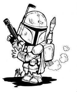 Star Wars clipart line art